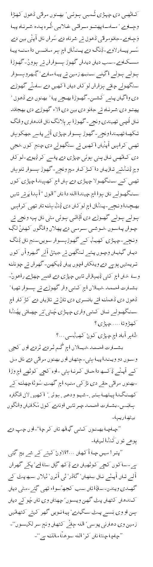 Dding (Hamid Siraj/ Translator Saeed Akhtar Zia) - Part 4